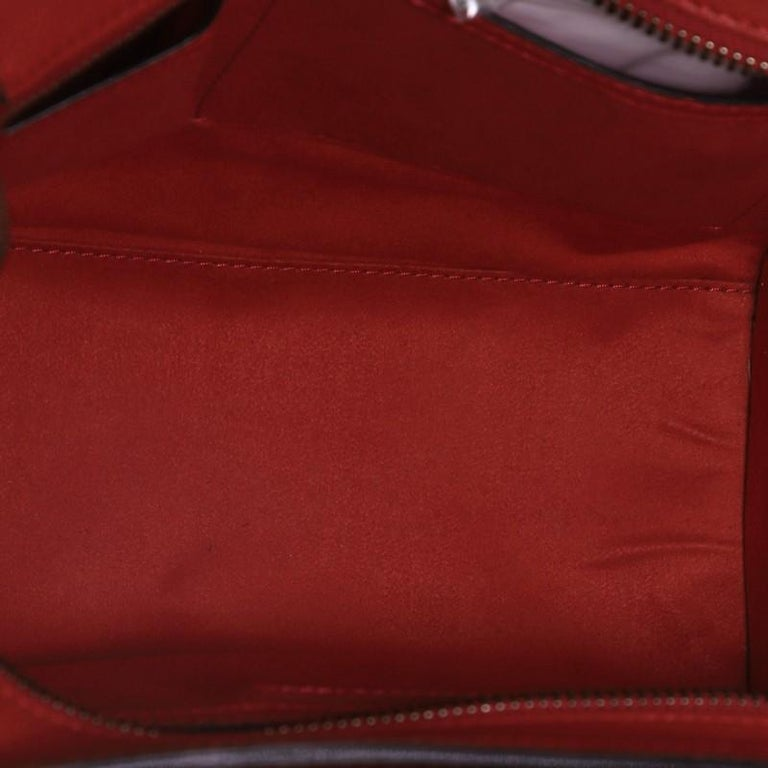 Celine Luggage Bag Grainy Leather Micro  In Good Condition For Sale In New York, NY