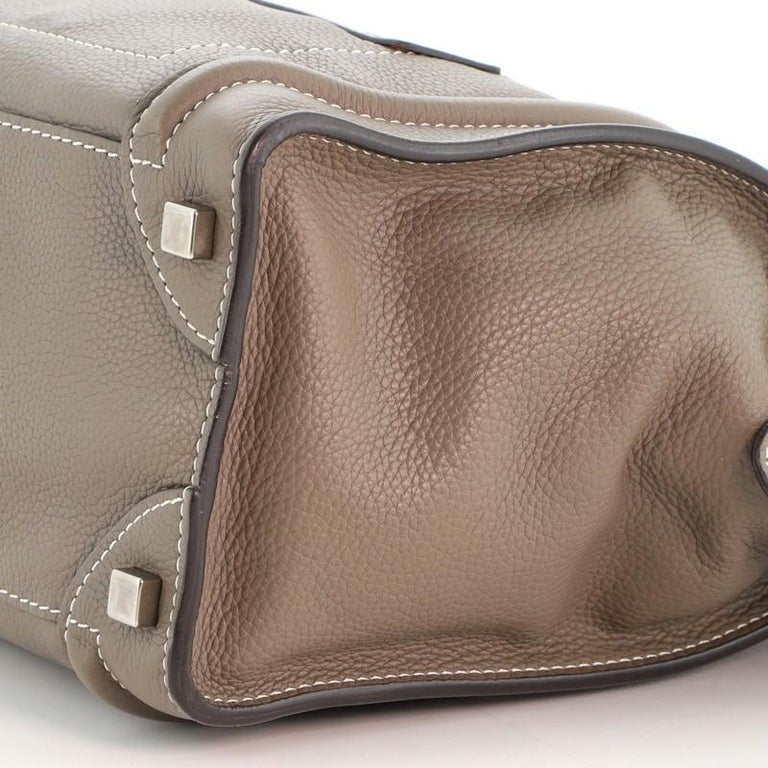 Celine Luggage Bag Grainy Leather Micro For Sale 1