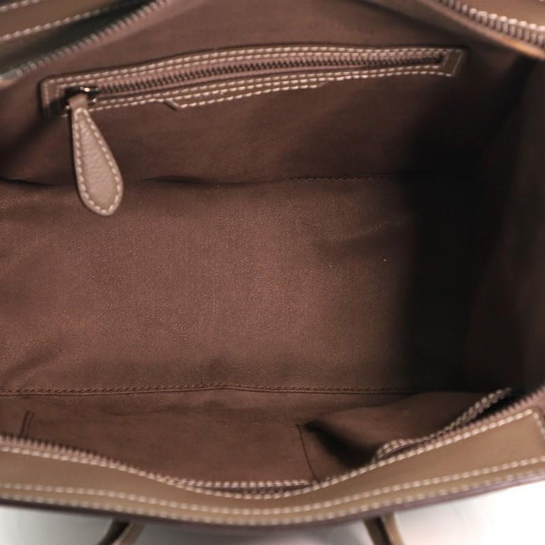 Celine Luggage Bag Grainy Leather Micro For Sale 2