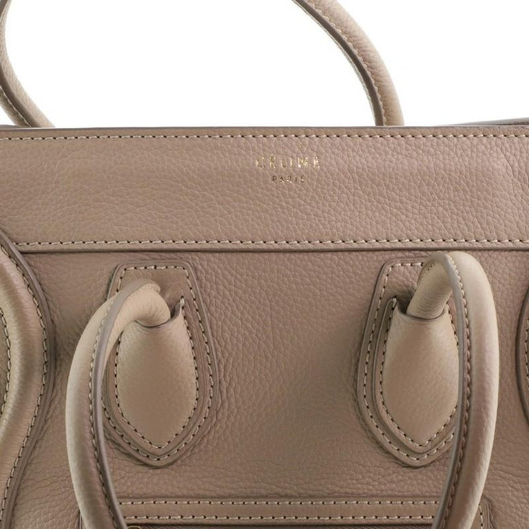 Celine Luggage Bag Grainy Leather Micro For Sale 5