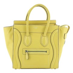 Celine Luggage Bag Grainy Leather Micro