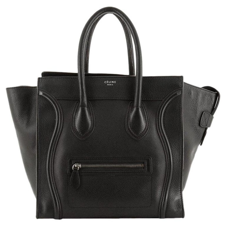 Celine Luggage Bag Grainy Leather Mini For Sale