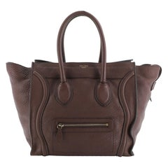 Celine Luggage Bag Grainy Leather Mini