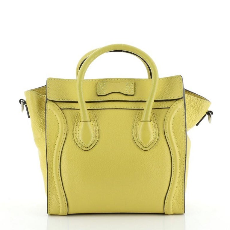 Women's or Men's Celine Luggage Bag Grainy Leather Nano For Sale
