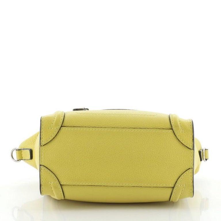 Celine Luggage Bag Grainy Leather Nano For Sale 1
