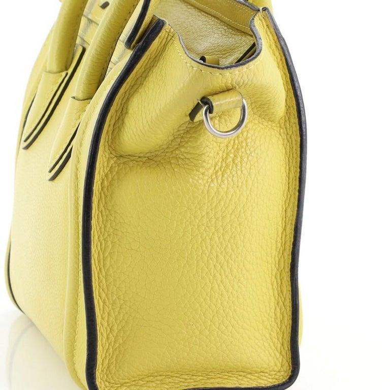 Celine Luggage Bag Grainy Leather Nano For Sale 2