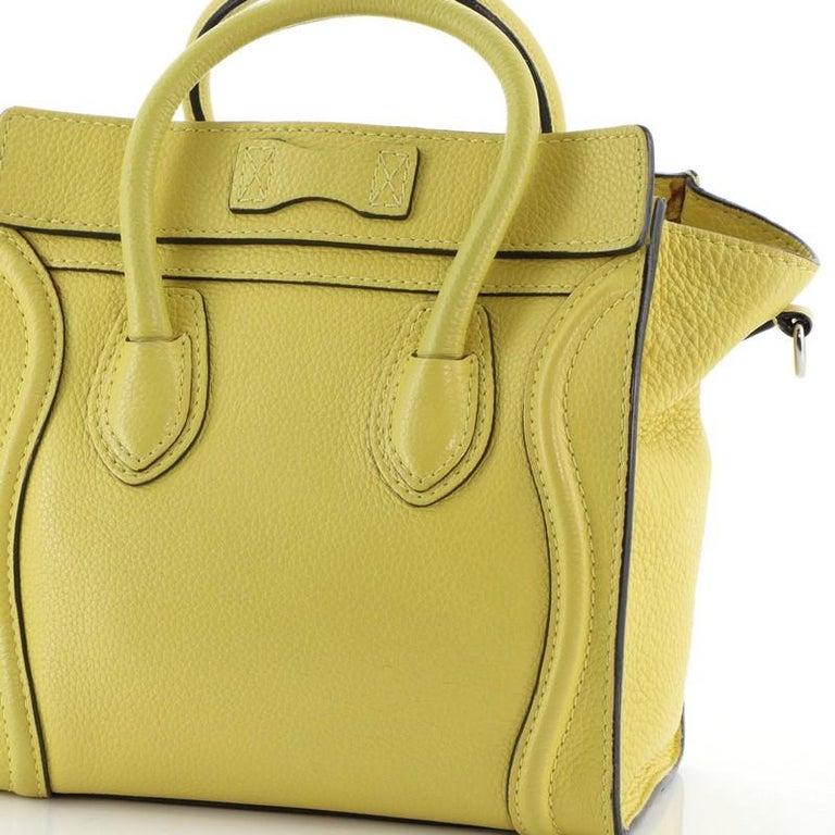 Celine Luggage Bag Grainy Leather Nano For Sale 3