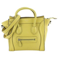 Celine Luggage Bag Grainy Leather Nano