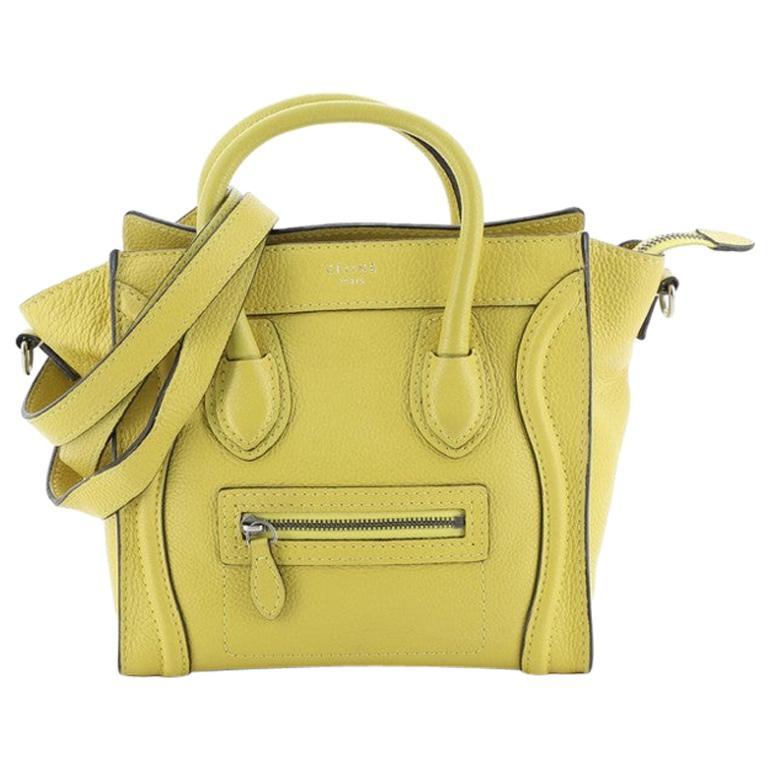 Celine Luggage Bag Grainy Leather Nano For Sale