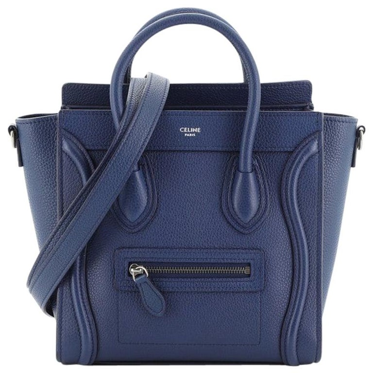Celine Luggage Bag Grainy Leather Nano For Sale