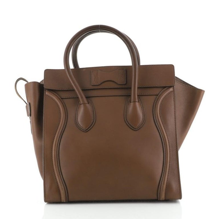 Celine Luggage Bag Smooth Leather Medium In Good Condition For Sale In New York, NY