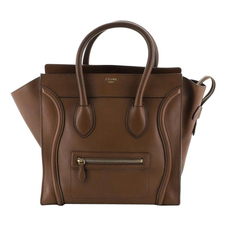 Celine Luggage Bag Smooth Leather Medium For Sale