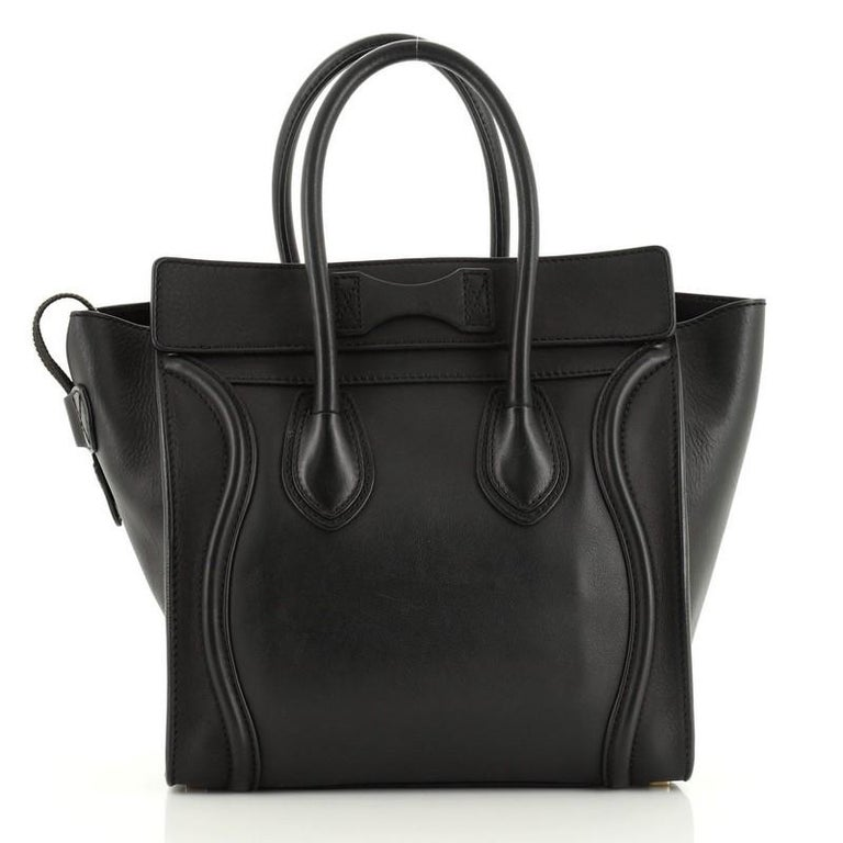 Celine Luggage Bag Smooth Leather Micro In Good Condition In New York, NY