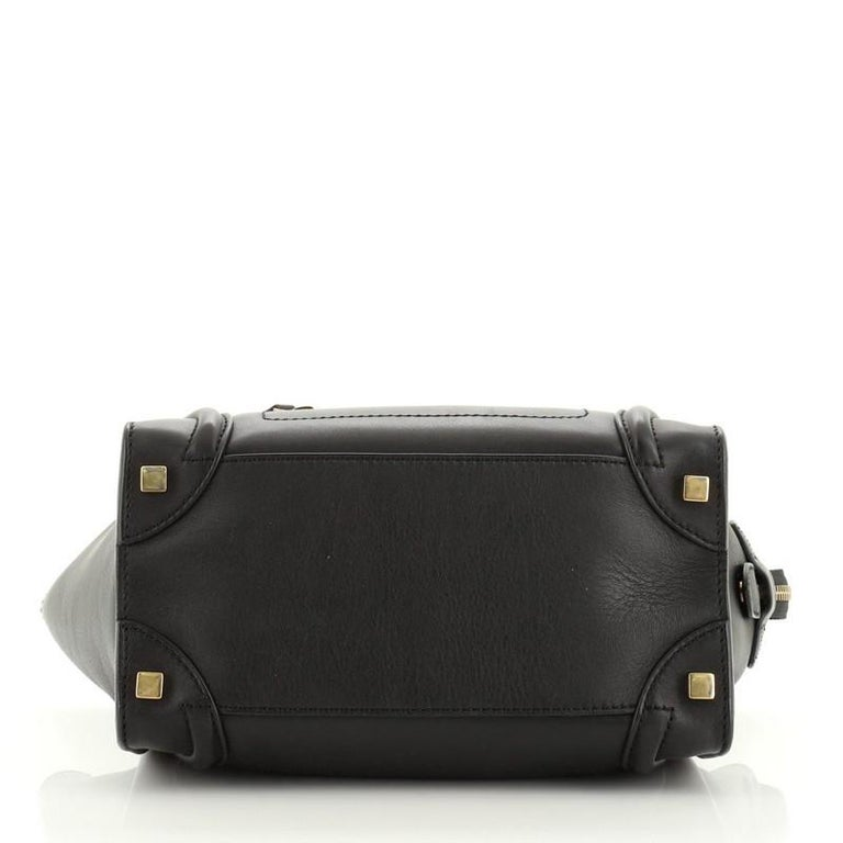 Women's or Men's Celine Luggage Bag Smooth Leather Micro