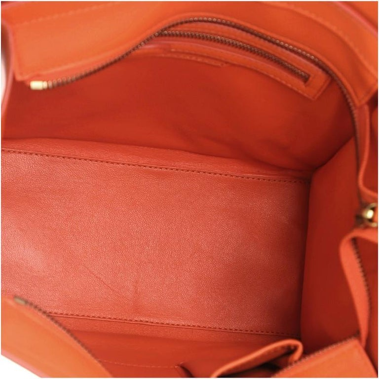 Women's or Men's Celine Luggage Bag Smooth Leather Micro For Sale