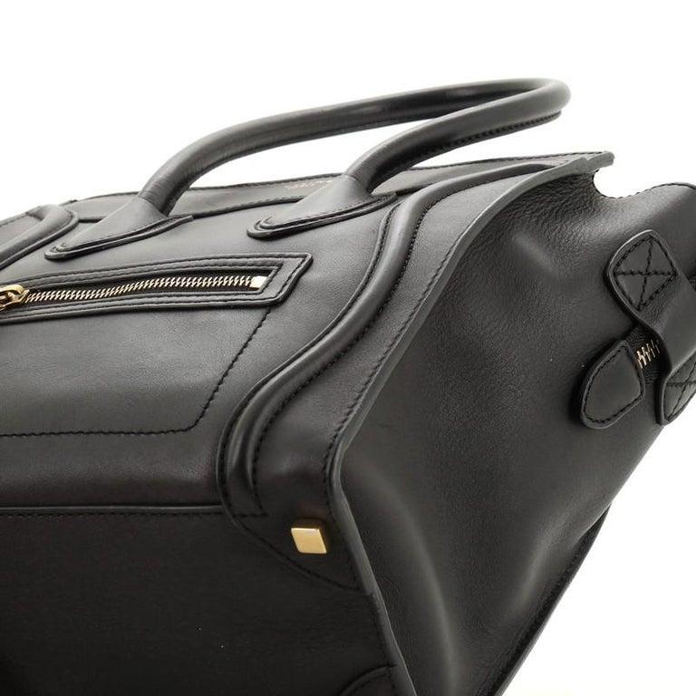 Celine Luggage Bag Smooth Leather Micro 2