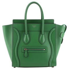 Celine Luggage Bag Smooth Leather Micro
