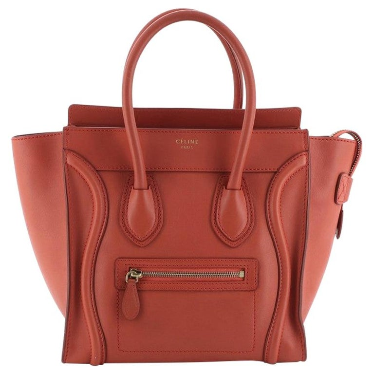 Celine Luggage Bag Smooth Leather Micro For Sale