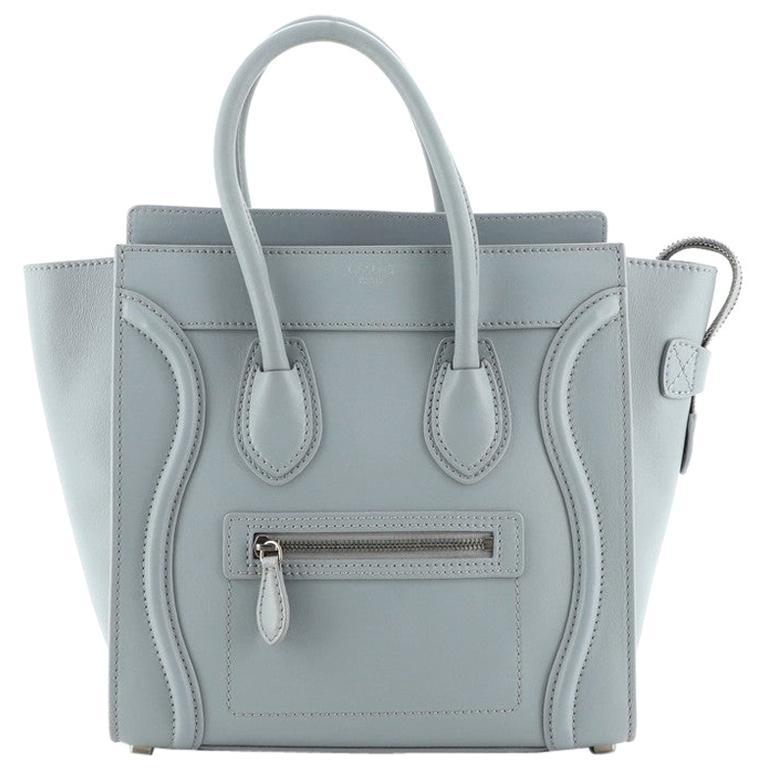 Celine Luggage Bag Smooth Leather Micro