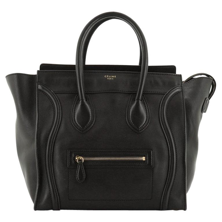 Celine Luggage Bag Smooth Leather Mini For Sale