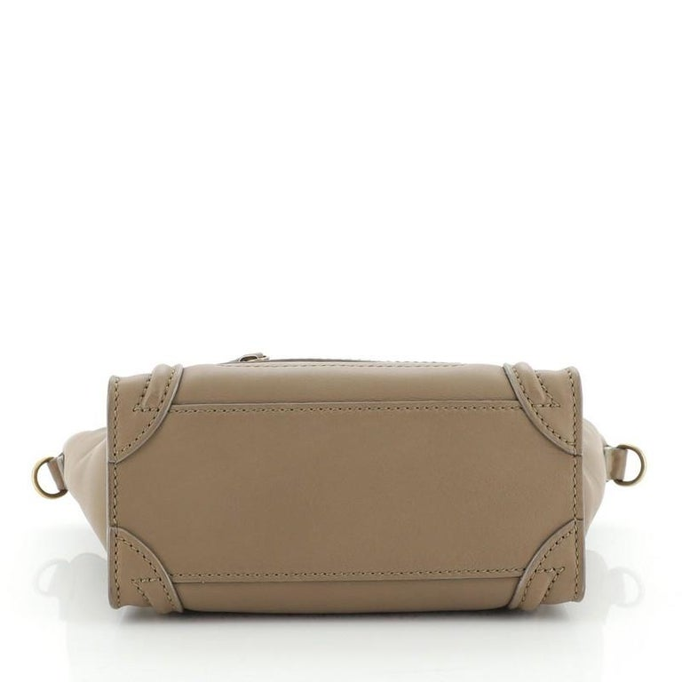 Women's or Men's Celine Luggage Bag Smooth Leather Nano For Sale