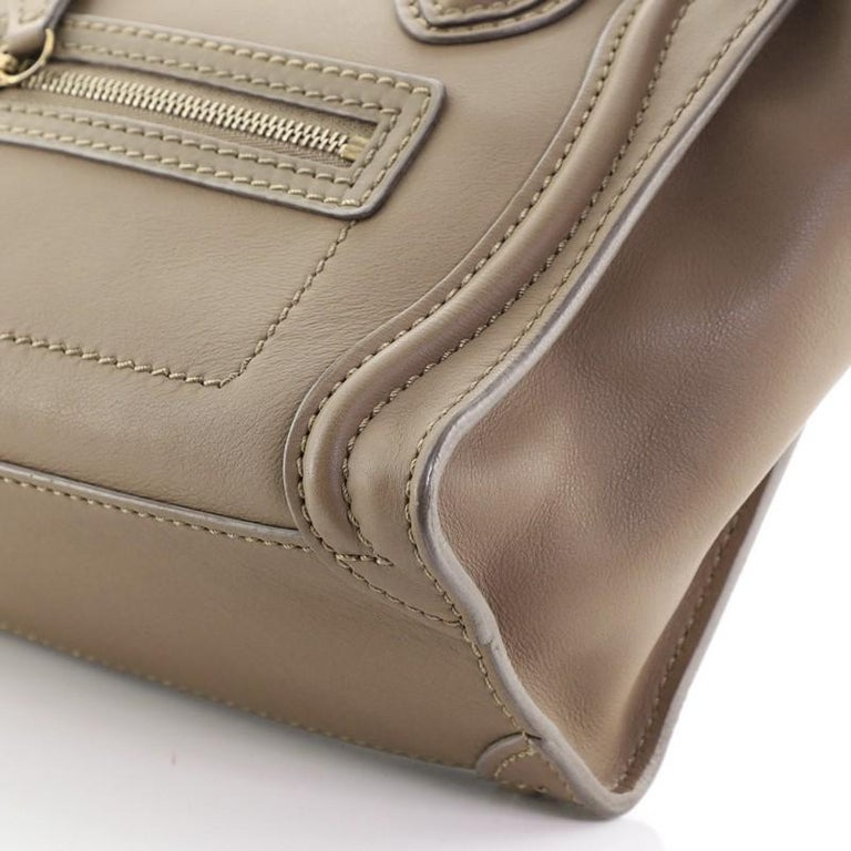 Celine Luggage Bag Smooth Leather Nano For Sale 2