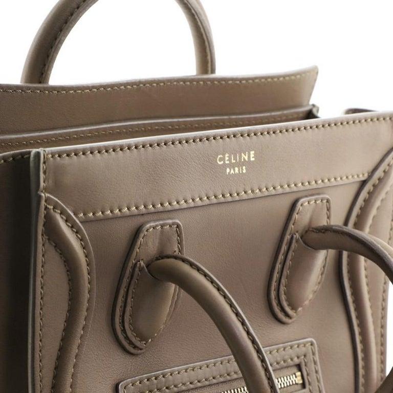 Celine Luggage Bag Smooth Leather Nano For Sale 3