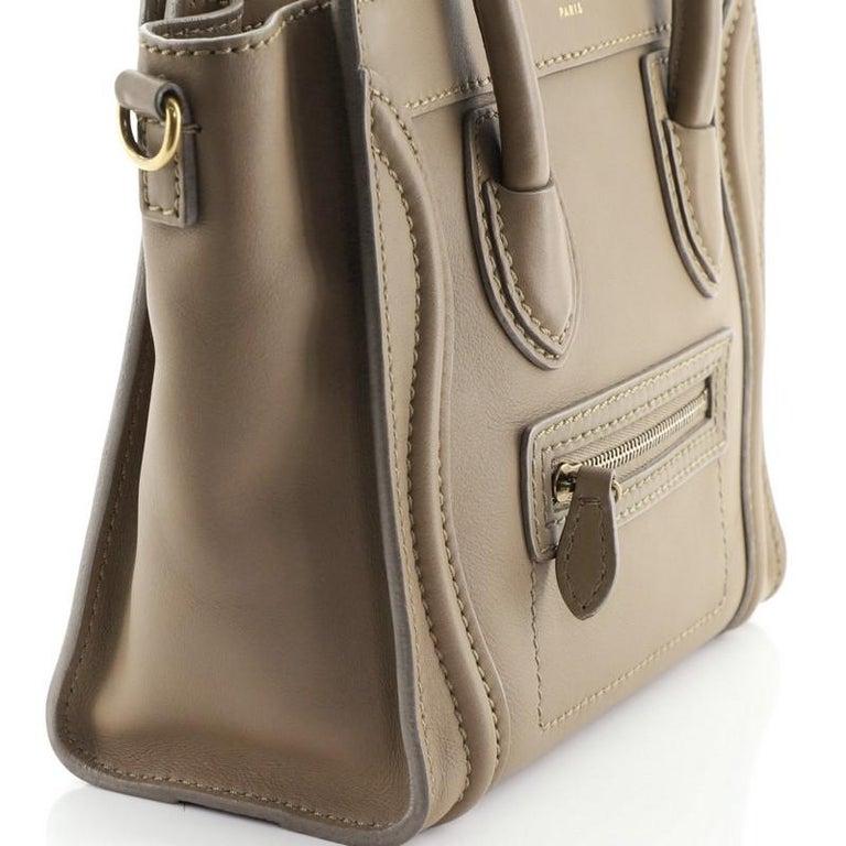 Celine Luggage Bag Smooth Leather Nano For Sale 4