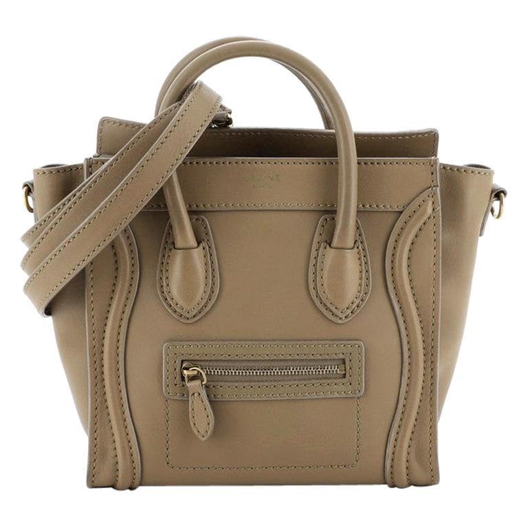 Celine Luggage Bag Smooth Leather Nano For Sale
