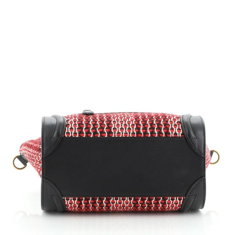 Women's or Men's Celine Luggage Bag Tweed Nano For Sale