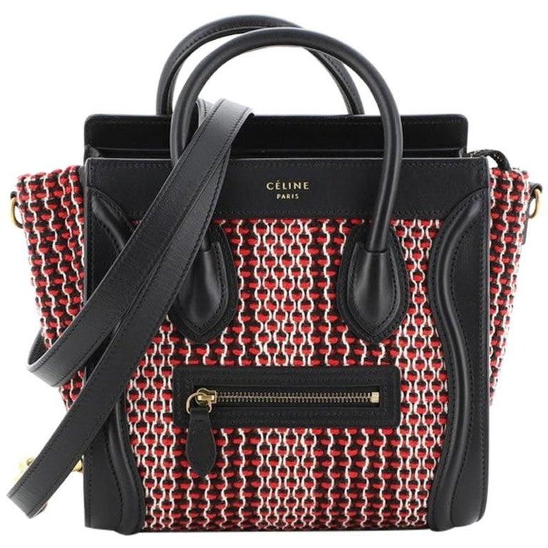 Celine Luggage Bag Tweed Nano For Sale