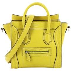 Celine Luggage Handbag Grainy Leather Nano,