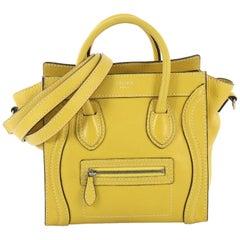 Celine Luggage Handbag Grainy Leather Nano