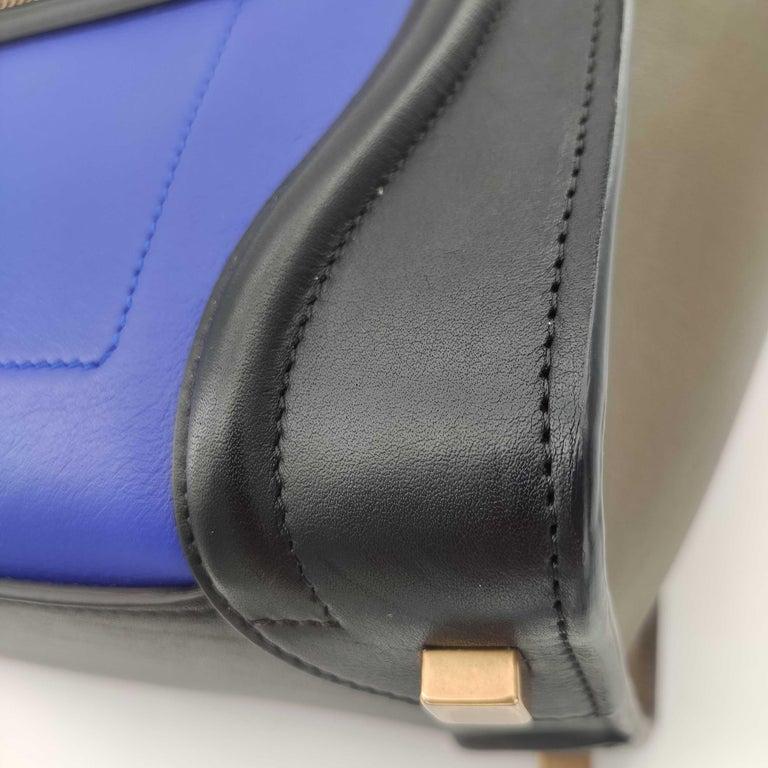 CÉLINE luggage Handbag in Blue Leather For Sale 5