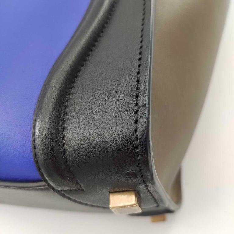 CÉLINE luggage Handbag in Blue Leather For Sale 7