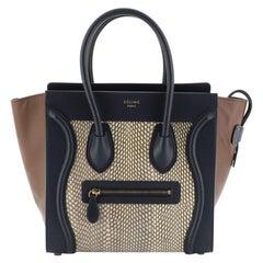 Celine Luggage Handbag Python and Leather Micro