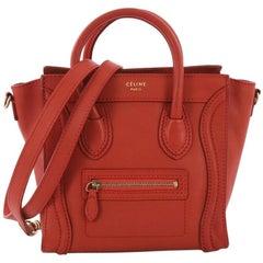 Celine Luggage Handbag Smooth Leather Nano