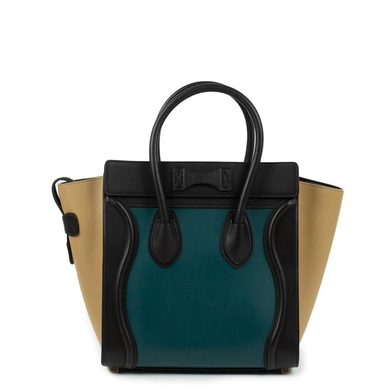 Black Celine, Luggage in multicolor leather For Sale