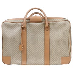 Céline Luggage Micro Gg Logo Suitcase 870268 Brown Coated Canvas Weekend/Travel