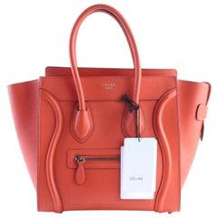 Céline Luggage Mini 29cer0501 Vermillion Leather Shoulder Bag