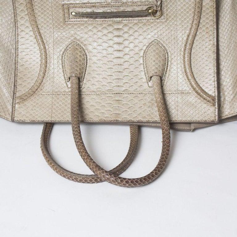 Celine Luggage Phantom Python Handbag 2013 For Sale 6