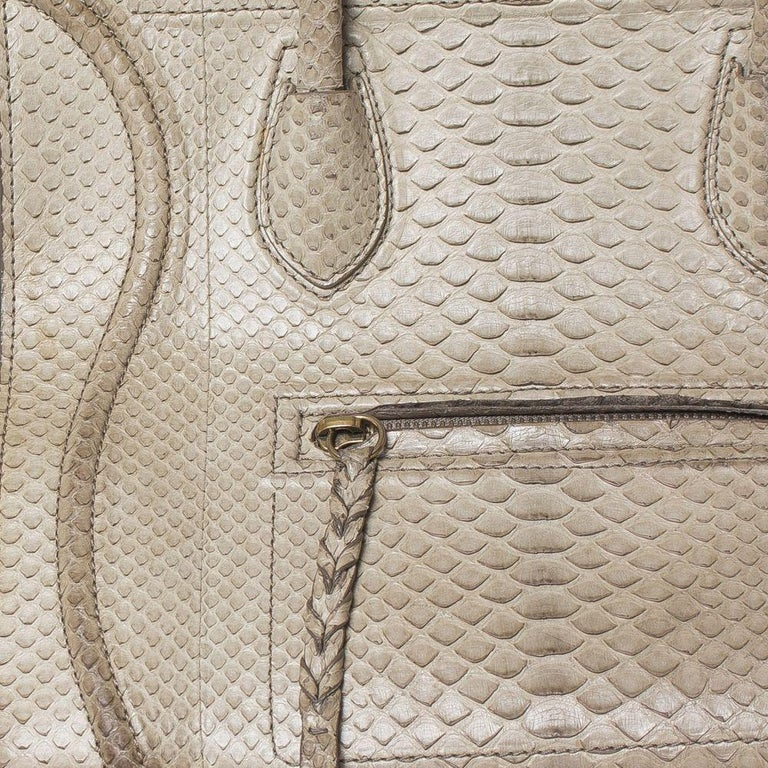 Celine Luggage Phantom Python Handbag 2013 In Good Condition For Sale In Montreal, Quebec