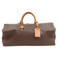 Céline Macadam Boston Extra Large Duffle with Strap 870313 Canvas Travel Bag