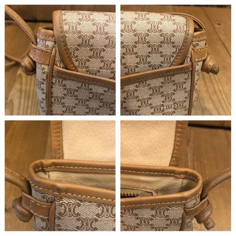 CELINE Macadam Canvas Mini Crossbody Bag For Sale 2