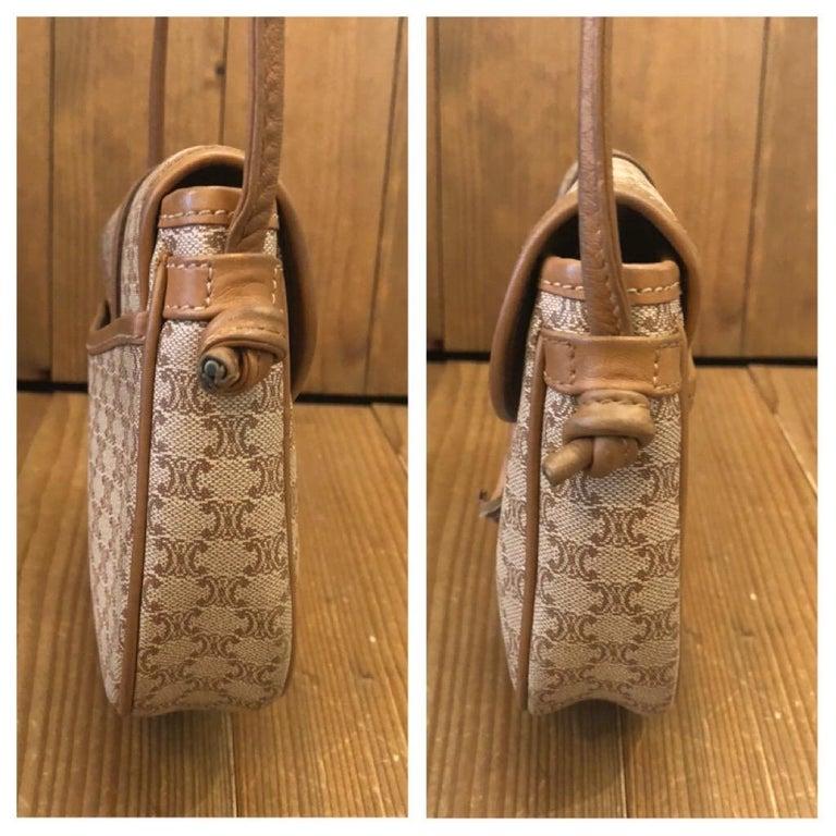 CELINE Macadam Canvas Mini Crossbody Bag For Sale 3