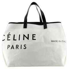 Celine Made In Tote Canvas with Leather Large