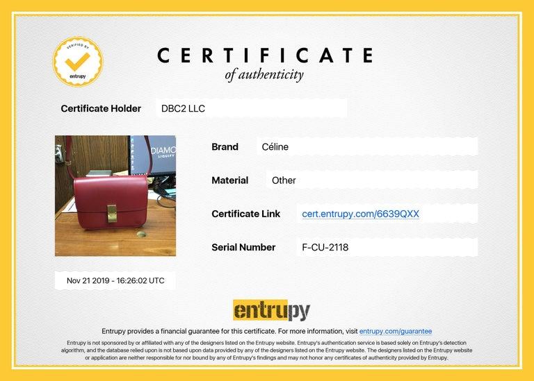 Celine Medium Classic Red Leather Shoulder Bag For Sale 6