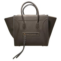Celine Medium Grey Leather Phantom Luggage Tote