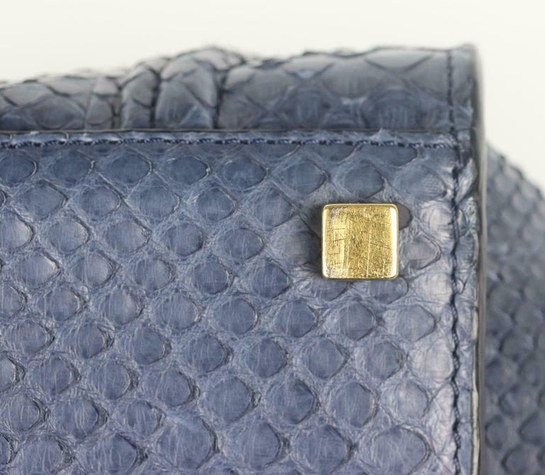 Celine Medium Python Phantom Luggage Tote Bag For Sale 5