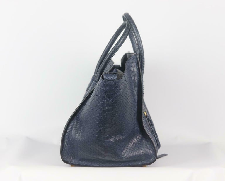 Celine Medium Python Phantom Luggage Tote Bag In Excellent Condition For Sale In London, GB